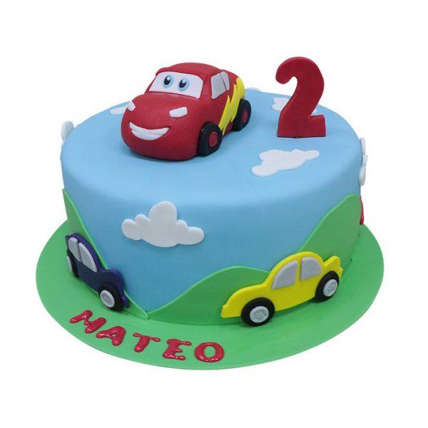 car design birthday cake