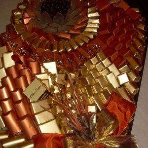 chocolate arrangement red