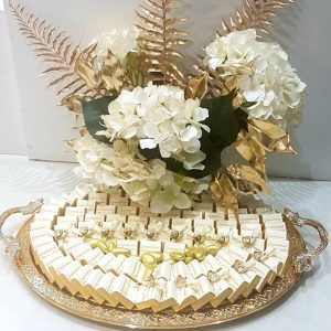 chocolate arrangement white