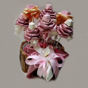 Satin Rose and Chocolate arrangement